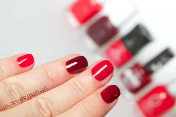 Vernis rouge+main