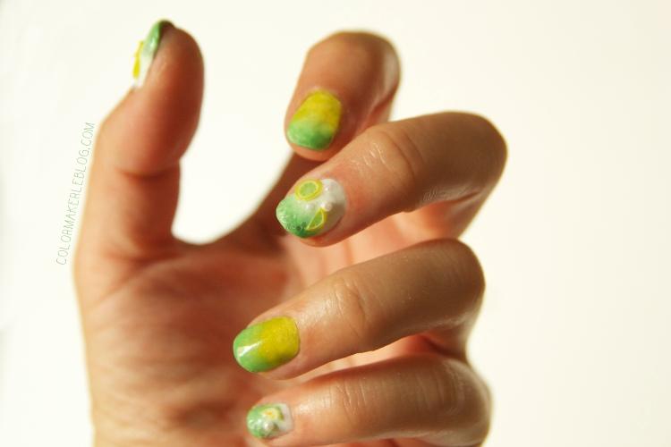 Lime mojito nails