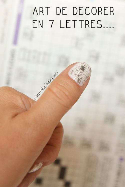 mots croisés nail art