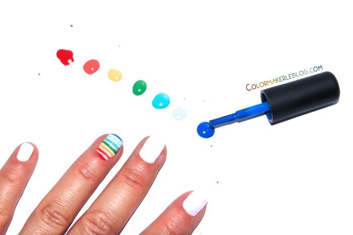 nail art arc-en-ciel