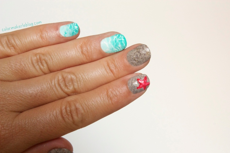 beauty and beach nail art