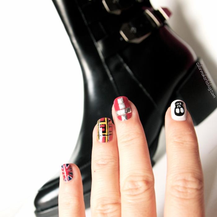 grunge nail art zara