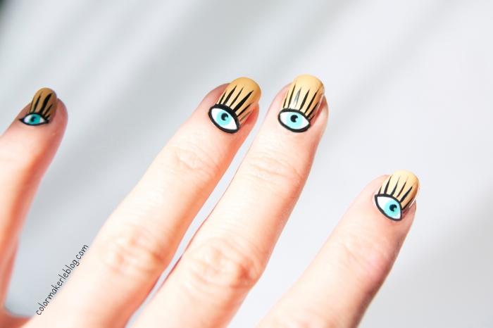 nail art eyes