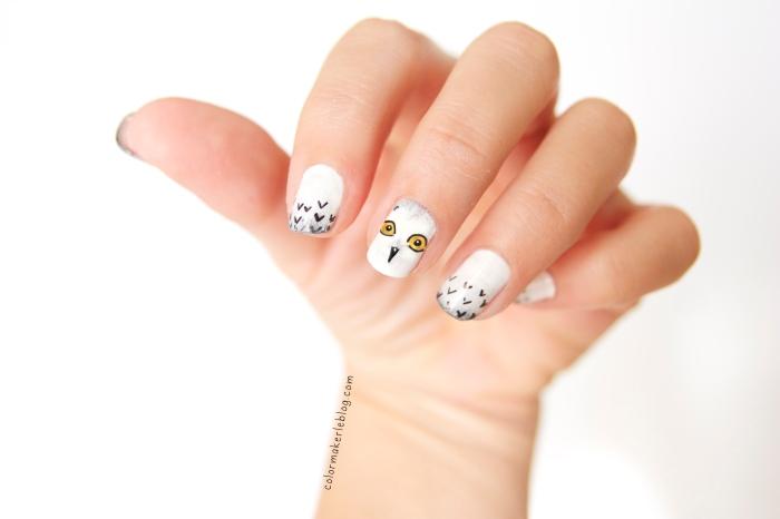 nail art owl