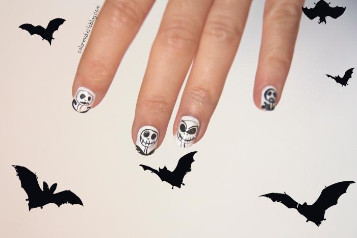 tim burton jack nail art