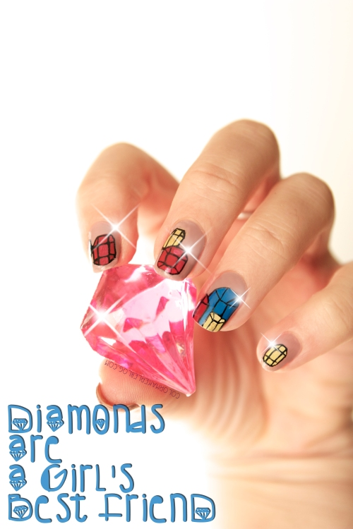 diamant nail art