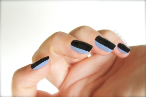 nail art bicolor