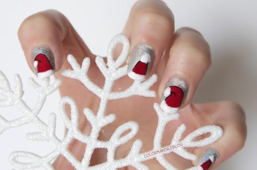 Christmas nail art 1
