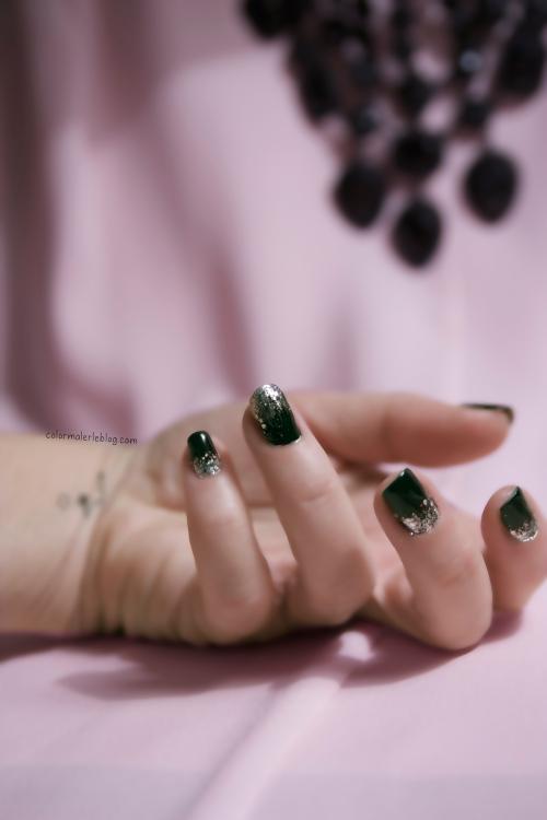 nail art noir argent