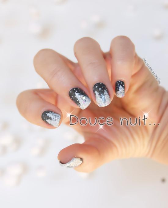 nuit-hiver nail art