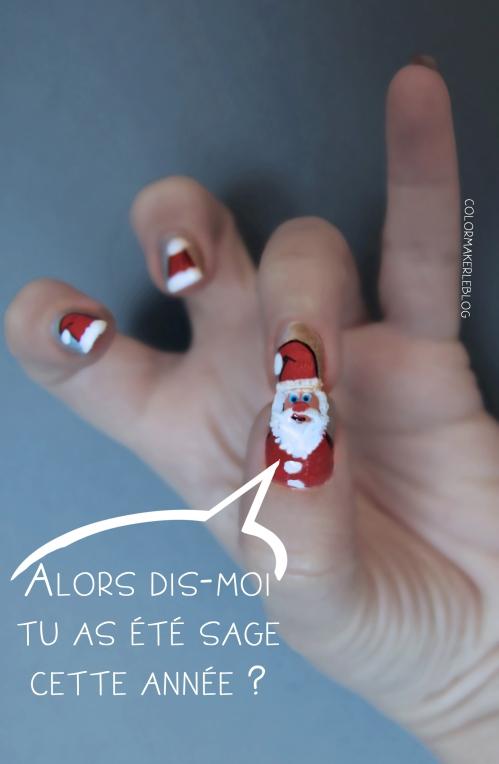 pere noel nail art