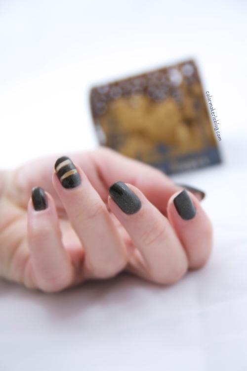 nail art noir et or
