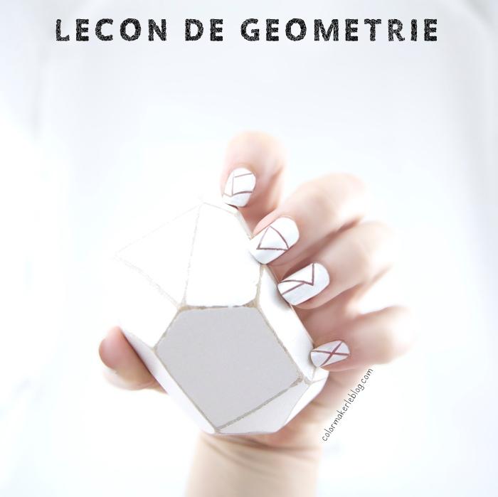 manucure géométrique