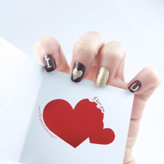 nail art i love you