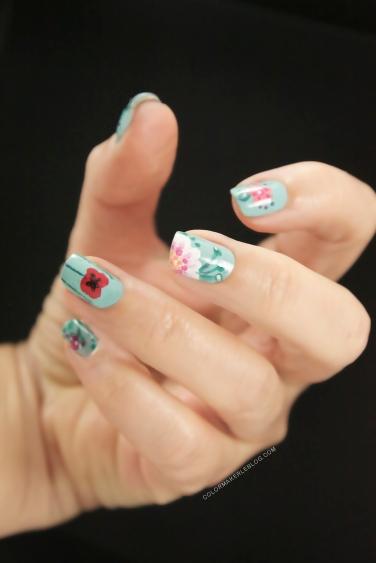 nail art fleuri
