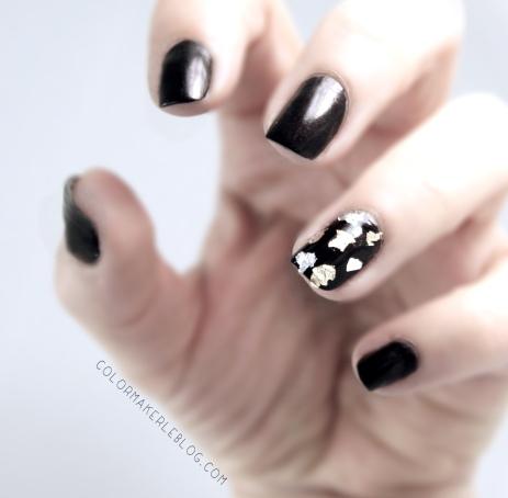 paillettes 3 ors nail art